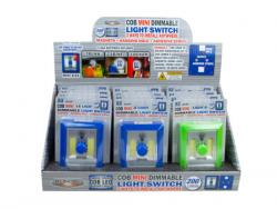 Wholesale Mini COB LED Dimmable Switch In Countertop Display Assorted