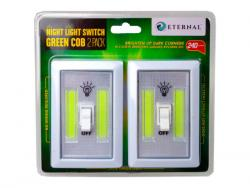 Wholesale 2 Pack COB Night Light Switch In Green