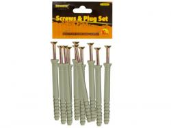 """Wholesale 4"""" Screws With Ribbed Plastic Anchors Set"""