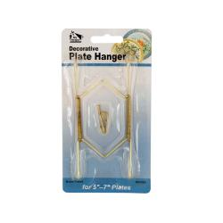 Wholesale Small Brass-Plated Decorative Plate Hanger