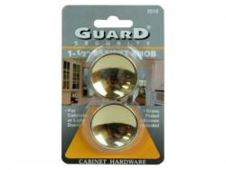 "Wholesale Guard Security 1.5"" Brass Cabinet Knobs"
