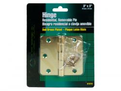 """Wholesale 3""""x3"""" Dual Brass Plated Hinge With Screws"""