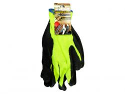 Wholesale Extra Large High-Vis Yellow Latex Dip Working Gloves