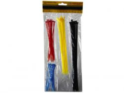 Wholesale 60 Piece Asst Colored Cable Ties