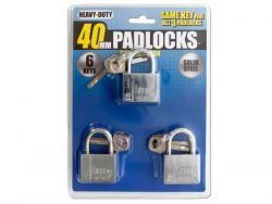 Wholesale Chrome Finish Keyed Alike Steel Padlocks
